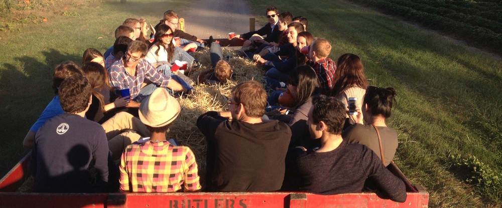 Evening Hayrides and Bonfires